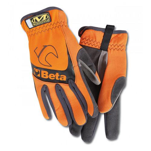 Rękawice pomarańczowo-czarne mechanix Beta 9574O