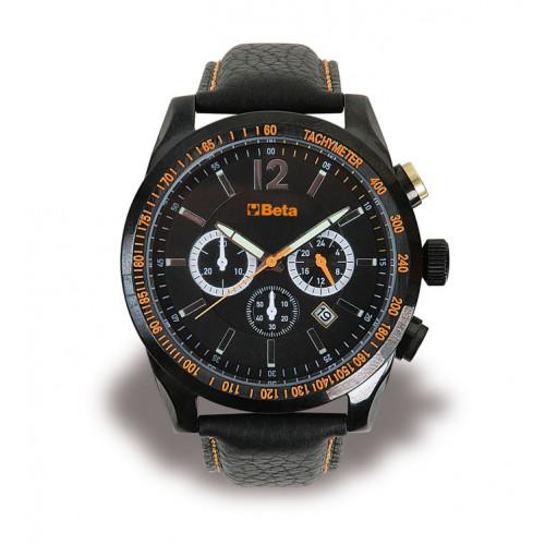 Zegarek na rękę ze skórzanym paskiem Beta 9593CA