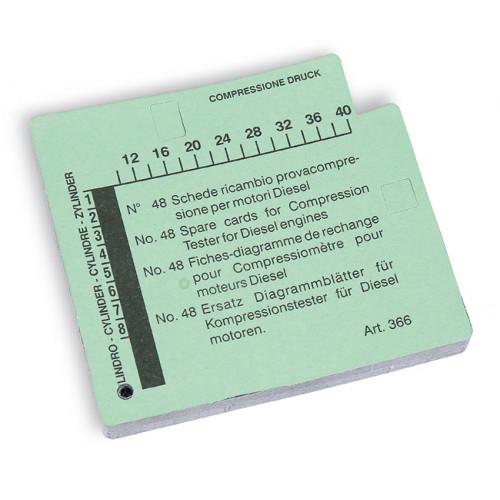 Karty pomiarowe do przyrządu do kontroli ciśnienia Beta 960CMD