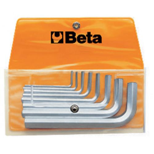Komplet 8 kluczy trzpieniowych kątowych sześciokątnych Beta 96/B8 - rozmiary: 2-10mm