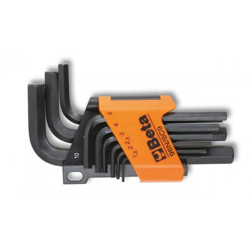 Komplet 9 kluczy trzpieniowych kątowych sześciokątnych Beta 96N/SC9 - rozmiary: 1.5-10mm