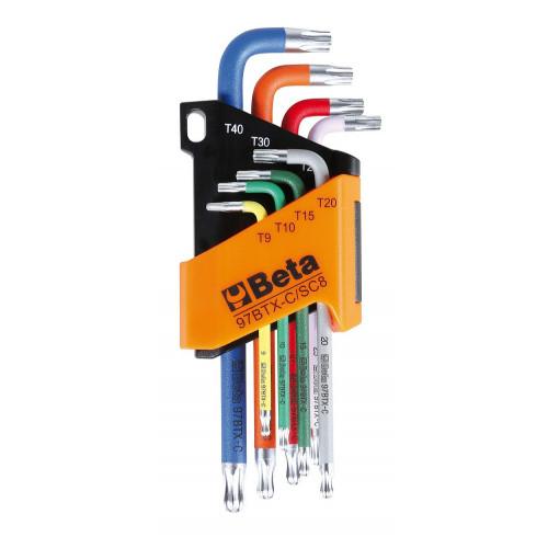 Komplet 8 kluczy trzpieniowych z końcówką kulistą Beta 97BTX-C/SC8