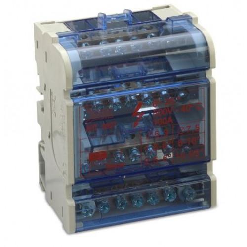 Blok rozdzielczy modułowy 100A 4P 5x(1.5-6 mm2)+2x(6-16mm2) Bm Group BM9907