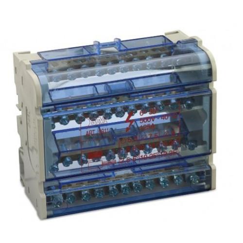 Blok rozdzielczy modułowy 125A 4P 7x(1.5-6 mm2)+2x(6-16mm2)+2x(10-25mm2) Bm Group BM9911