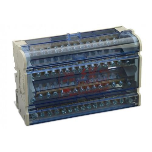 Blok rozdzielczy modułowy 125A 4P 11x(1.5-6 mm2)+2x(6-16mm2)+2x(10-25mm2) BM Group BM9915