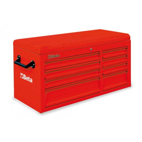 Skrzynie narzędziowe z 8 szufladami i górnym pojemnikiem Beta 3800/C38TR