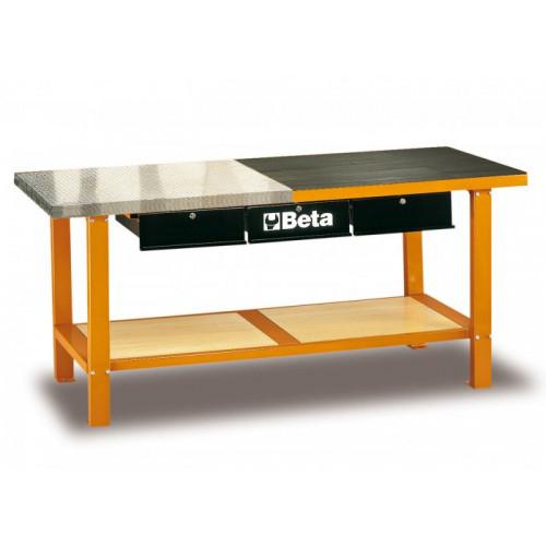 Stół warsztatowy pomarańczowy Beta C56MO