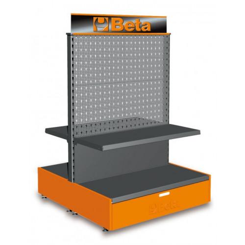 Regał wystawienniczy wolnostojący 2m Beta C68G/2