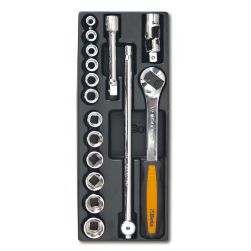 Zestaw 16 narzędzi we wkładce z tworzywa Beta T100