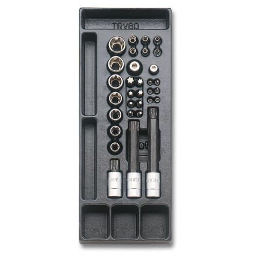 Zestaw 32 narzędzi we wkładce z tworzywa Beta T112