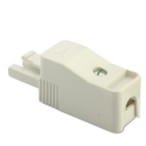 Wtyk szybkozłączki 2P biały (50szt.) obudowa biała 2.5mm2 BM Group BMB9023