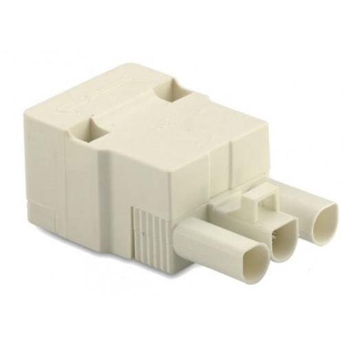 Gniazdo szybkozłączki elektrycznej 3P białe 2.5mm2 z obudową (50szt.) BM Group BMB9034