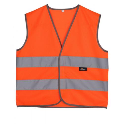 Kamizelka dziecięca ostrzegawcza pomarańczowa Vizwell VWEN01-CO