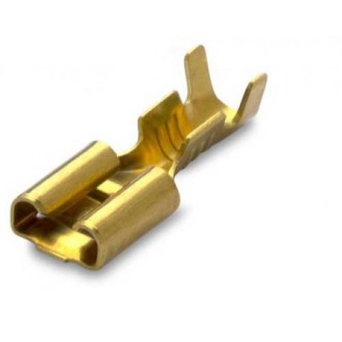 Nasuwka nieizolowana z mosiądzu 2.5-6.3/0.8(25SZT) BM Group 01290S - zakres: 1-2.5mm2