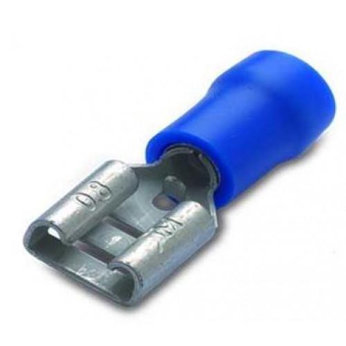 Nasuwka izolowana z antywibracyjną tulejką miedzianą 2.5-6.3/0.8 PVC (10szt.) BM Group 00290s - zakres: 1.5-2.5mm2