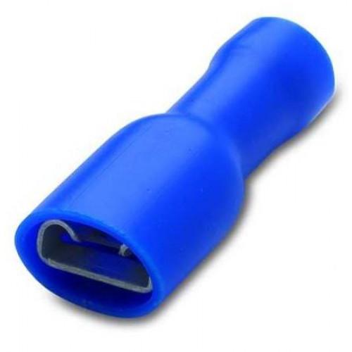 Nasuwka całkowicie izolowana z anywibracyjną tulejką miedzianą 2.5-6.3/0.8 PVC (50szt.) BM00291 - zakres: 1.5-2.5mm2