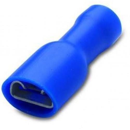 Nasuwki całkowicie izolowane 25szt. z antywibracyjną tulejką miedzianą 2.5-6.3/0.8 PVC BM Group 00219S - zakres: 1.5-2.5mm2