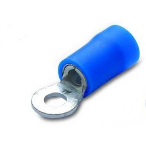 Końcówki oczkowe izolowane z antywibracyjną tulejką miedzianą 100szt. PVC BM Group 90207-90243 - przekrój: 1.5-2.5mm2