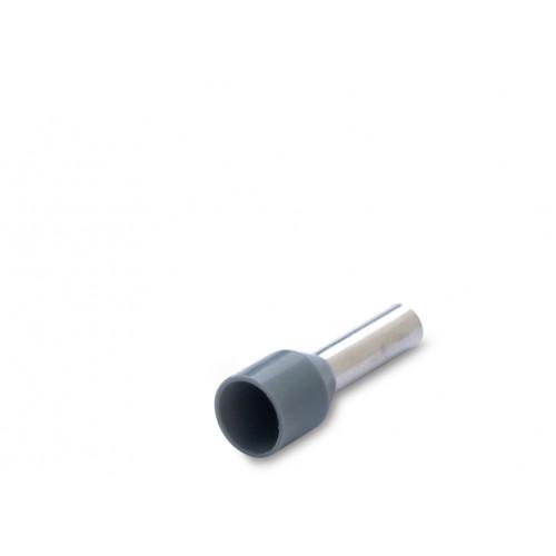 Końcówka tulejkowa izolowana biała 4mm2 szara 100szt. BM Group 005081S