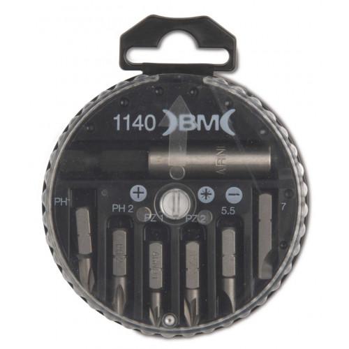 """Zestaw 6 końcówek wkrętakowych 1/4"""" z uchwytem magnetycznym BM Group 1140"""