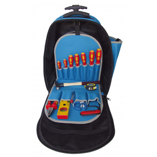Plecak z tkaniny na kółkach z zestawem 14 narzędzi BM Group BM1815A1