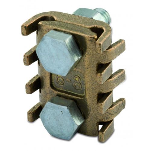 Zacisk uniwersalny mosiężny odgałęźny 2 śruby 100szt. BM Group 5261 - przekrój: 6-16mm2