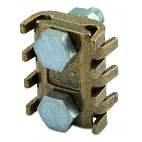 Zacisk uniwersalny mosiężny odgałęźny 2 śruby 25szt. BM Group 5264 - przekrój: 70-95mm2