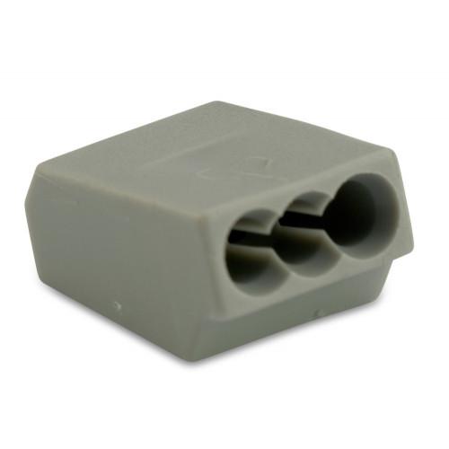 Szybkozłączka 3x2.5 szara 100szt. BM Group 803 - przekrój przewodu: 0.75-2.5mm2