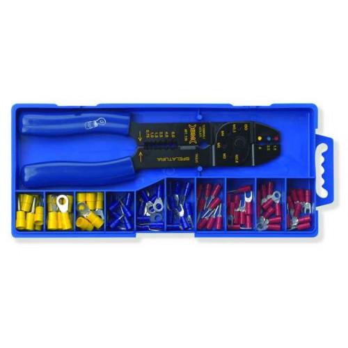 Zestaw szczypiec wraz z końcówkami kablowymi miedzianymi izolowanymi BM80411 - przekrój: 0.25-6mm2