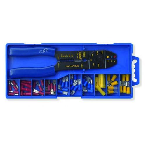 Zestaw szczypiec wraz z końcówkami szybkozłączek BM Group 80412 - przekrój: 0.25-6mm2