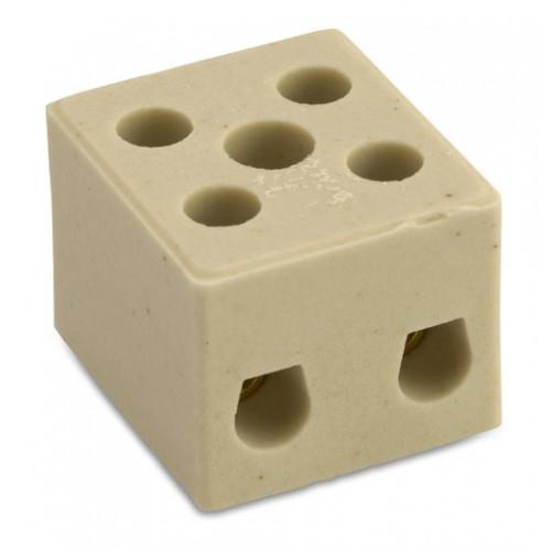 Kostki łączące ze steatytu do wysokich temperatur 2P (54szt.) BM Group 9520 - przekrój: 6mm2