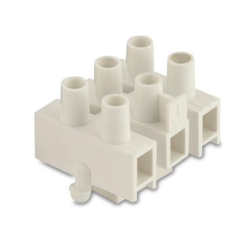 Złączki elektryczne z nylonu trójbiegunowe z blaszką ochronną z przymocowaniem do blachy 1000szt. BM Group 963CS