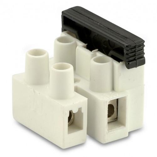 Złączki elektryczne z bezpiecznikiem 2P z blaszką ochronną (100szt.) BM Group 972CS