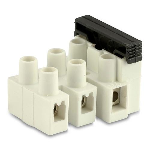 Złączki elektryczne z bezpiecznikiem 3P z blaszką ochronną (100szt.) BM Group 973CS