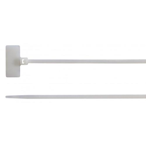 Opaski kablowe z tabliczką opisową zewnętrzną 100szt. BM Group BMBT11125 - rozmiar: 2.5x110mm