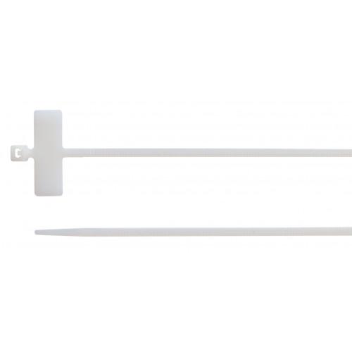 Opaski kablowe z tabliczką opisową poprzeczną 100 szt. BM Group BMBT22025- rozmiar: 2.5x200mm