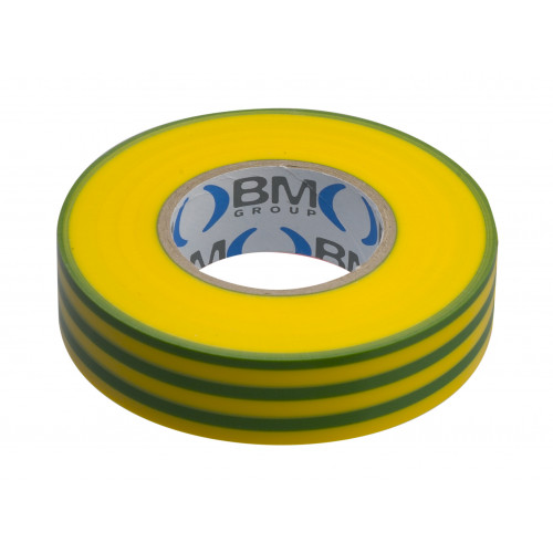 Taśma elektroizolacyjna żółto-zielona 19mmx25m BM Group ESB1925GV