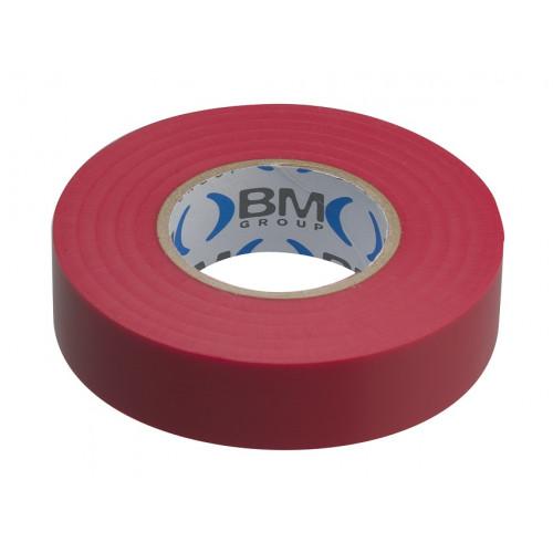 Taśma elektroizolacyjna czerwona 19mmx25m BM Group ESB1925RO