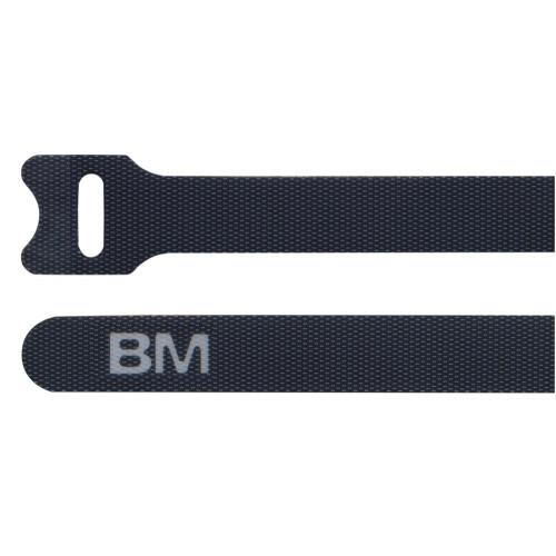 Opaski kablowe na rzep czarne 10 szt. BM Group BMNV2312 - rozmiar: 12.7x229mm