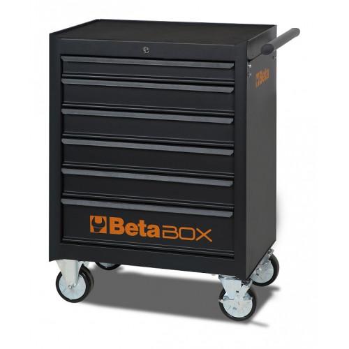 Wózek narzędziowy czarny z zestawem 218 narzędzi Beta 2400E/C04BOX