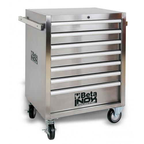 Wózek narzędziowy z 7 szufladami wykonany w całości ze stali nierdzewnej Beta 2400/C04TSS-7