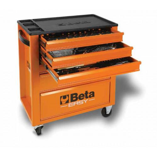 Wózek narzędziowy pomarańczowy z zestawem 215 narzędzi Beta 2400E6/M7/O