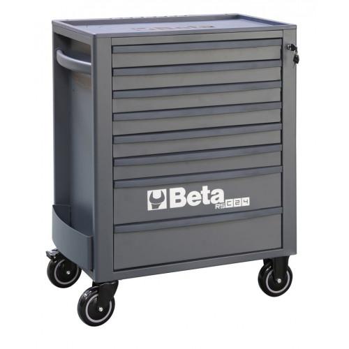 Wózek narzędziowy pusty z 8 szufladami antracytowo Beta 2400/RSC24/8-A
