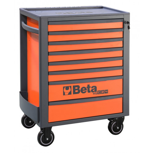 Wózek narzędziowy pusty z 8 szufladami pomarańczowy Beta 2400/RSC24/8-FO