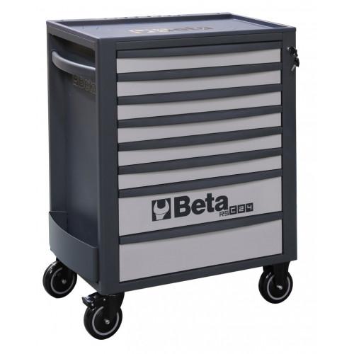 Wózek narzędziowy pusty z 8 szufladami szaro-antracytowy Beta 2400/RSC24/8-G