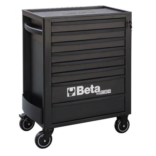 Wózek narzędziowy pusty z 8 szufladami czarny Beta 2400/RSC24/8-N
