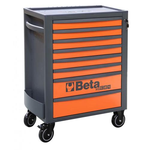 Wózek narzędziowy pusty z 8 szufladami pomarańczowo-szary Beta 2400/RSC24/8-O