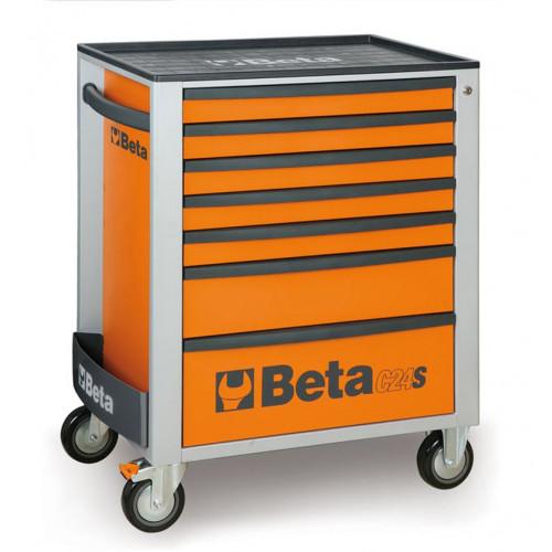 Wózek narzędziowy z 7 szufladami C24S7 z zestawem 227 narzędzi Beta 2400S7/UT4M/O