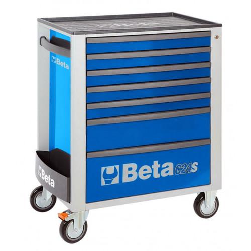 Wózek narzędziowy z 7 szufladami niebieski Beta 2400/C24S7B