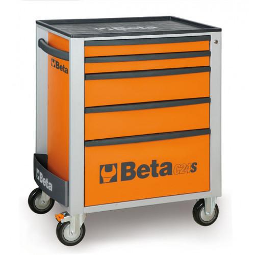 Wózek narzędziowy C24S5 z zestawem 91 narzędzi Beta 2400S5-O/VU1M